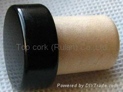 coated aluminium cap cork bottle stopper  TBPC16.2-23.5-20-9.3 1