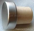 coated aluminium cap cork bottle stopper  TBPC18.3-28.3-19.9-9.4 2