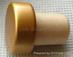 coated aluminium cap cork bottle stopper  TBPC15.3-23.5-17.8-9.3 2