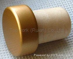 coated aluminium cap cork bottle stopper  TBPC16.2-23.5-20-9.3 2