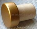 coated aluminium cap cork bottle stopper  TBPC16.2-23.5-20-9.3