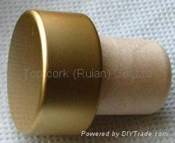 coated aluminium cap cork bottle stopper  TBPC18.2-27.7-20-13.5 2