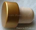 coated aluminium cap cork bottle stopper  TBPC19.2-29.5-20.5-13.5