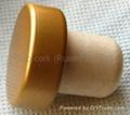 coated aluminium cap cork bottle stopper  TBPC19.3-31-20.1-10.7 2