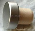 coated aluminium cap cork bottle stopper  TBPC19.3-31-20.1-10.7 3