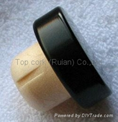 coated aluminium cap cork bottle stopper TBPC19.5-31-13-10.5