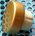 coated aluminium cap cork bottle stopper TBPC19.5-31-13-10.5