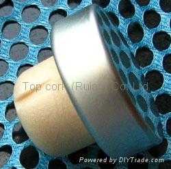 coated aluminium cap cork bottle stopper TBPC19.5-31-13-10.5 3
