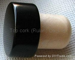 coated aluminium cap cork bottle stopper TBPC19.8-30.3-20.6-13.8