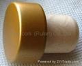 coated aluminium cap cork bottle stopper TBPC19.8-30.3-20.6-13.8