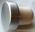 coated aluminium cap cork bottle stopper TBPC20.3-31-20.2-10.5 2