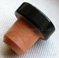 coated aluminium cap cork bottle stopper TBPC20.3-31-20.2-10.5 3