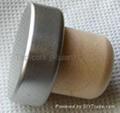 coated aluminium cap cork bottle stopper TBPC20.8-31-18-10.5