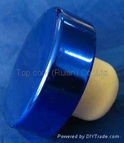 电镀铝帽瓶塞TBE15.6-31.1-12.8-10.4-6.2g-blue 1