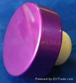 plated aluminium cap bottle stopperTBE15.6-31.1-12.8-10.4-6.2g-purple 1