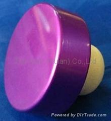 电镀铝帽瓶塞TBE15.6-31.1-12.8-10.4-6.2g-purple
