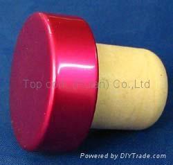 plated aluminium cap bottle stopperTBE19-30.8-20.5-10.6-7.2g