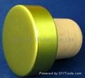 plated aluminium cap bottle stopperTBE19-30.8-20.6-10.3-7.4g