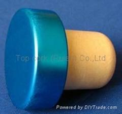 电镀铝帽瓶塞TBE19-30.8-20.6-10.3-7.5g