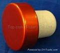 plated aluminium cap bottle stopperTBE19-30.8-20.6-10.8-7.4g