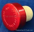 plated aluminium cap bottle stopperTBE19.7-30.8-20.8-10.6-7.4g 1