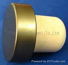 plated aluminium cap bottle stopperTBE21.5-33.1-22-11.1-9.1g
