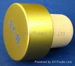 plated aluminium cap bottle stopperTBE21.5-33.3-22-15.6-11.3g