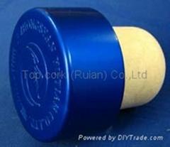 plated aluminium cap bottle stopperTBE22.4-33.3-19.4-16.0-11.0g-blue