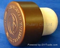 plated aluminium cap bottle stopperTBE22.4-33.3-19.4-16.0-11.0g-coffee