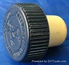 plastic cap cork bottle stopper TBP19.3-32-20-10.1-8.0g