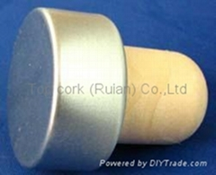 coated aluminium cap cork bottle stopperTBPC19.1-30.4-22.2-13.9-7.8g