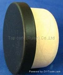 coated aluminium cap cork bottle stopperTBPC28.5-33.3-12.5-5.8-6.7g