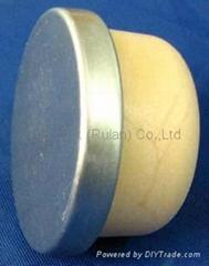 coated aluminium cap cork bottle stopperTBPC28.5-33.3-12.6-5.8-6.4g