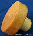 Wooden cap synthetic cork bottle stopper TBW22-49-20.8-15-24g