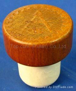 木頭帽瓶塞 TBW22.3-33-21.7-14.3-12.4g 1
