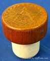 Wooden cap synthetic cork bottle stopper TBW22.3-33-21.7-14.3-12.4g