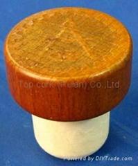 Wooden cap synthetic cor