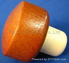 Wooden cap synthetic cork bottle stopper TBW22.3-45.1-21.7-29-27.2g