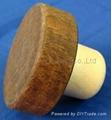 Wooden cap synthetic cork bottle stopper