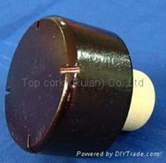 Wooden cap synthetic cork bottle stopper TBW24-47.5-21.7-24.8-37.9g
