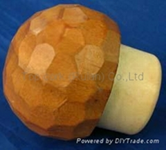 Wooden cap synthetic cork bottle stopper TBW41-63-24-50-89.8g