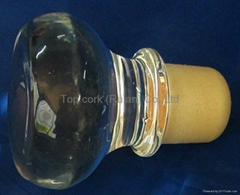 Glass cap cork bottle stopper TBGL24-32.4-50.822.2-42.2-140.7g-