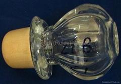 Glass cap cork bottle stopper ZLB24-41.4-47.1-47.6-77g