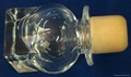 Glass cap cork bottle stopper