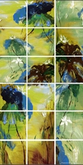 100% handmade abstract group oil painting - Lotus 18pcs/set  each one 100x100cm
