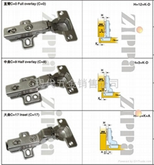 Hydraulic buffering Hinge sd305