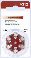 A312 Zinc Air Batteries for Hearing Aids