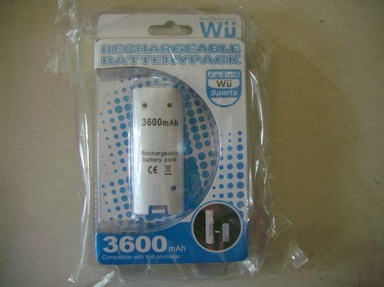 WII battery rechargeable Ni-MH 3600mAh 1