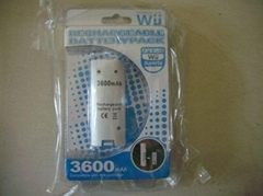WII battery rechargeable Ni-MH 3600mAh