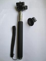 Extendable Handheld Telescopic Self-portrait Monopod for camera +Gopro tripod